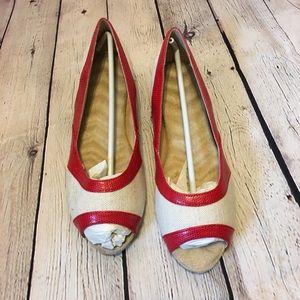 NWOT Women's Flat Canvas Shoes Size 9